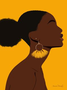 Afro Puff Illustration Art by Aminah Dantzler
