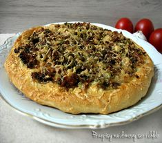 PIZZA NA GRUBYM SPODZIE Vegetable Pizza, Quiche, Bread, Vegetables, Breakfast, Food, Breakfast Cafe, Meal, Brot