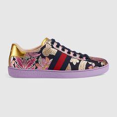 GUCCI Ace brocade low-top sneaker
