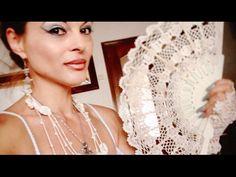 TEJE PORTA ABANICOS EN CROCHET - FÁCIL Y RÁPIDO - YouTube Crochet Home, Knit Crochet, Sombrero A Crochet, Fillet Crochet, Crochet Videos, Crochet Flowers, Veil, Diy And Crafts, Creations