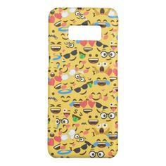 #cute emoji love hears kiss smile laugh pattern Case-Mate samsung galaxy s8 case - #emoji #emojis #smiley #smilies