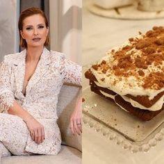 Cristina Ferreira revela receita do bolo de bolacha da mãe Cristina Ferreira, Biscuits, Dresses With Sleeves, Bread, Breakfast, Drinks, Spotlight, Chocolate Wafers, Desserts