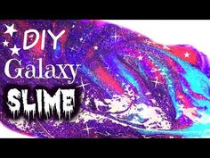Como hacer slime o moco de gorila galáctico - galaxy slime - Tutoriales Belen - YouTube