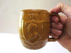 1930s The New Deal Mug Ceramic Beer Barrel Mug FDR Franklin D. Roosevelt Prohibition Beer Barrel Mug 16 ounces Jackpot Jen Vintage by JackpotJen on Etsy