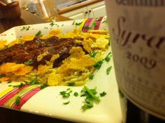 Gentilini Syrah 2009 with octapus orzotto and Parmesan flakes !!!