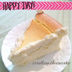 Crustless Cheesecake Recipe - rich and creamy, the perfect after dinner touch. The best cheesecake recipe!