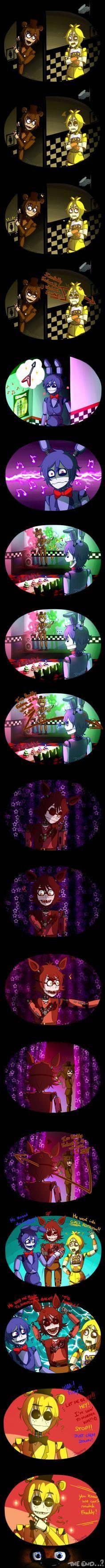 [FNAF] What if they meet each other? by YumeChii-NI on DeviantArt Five Nights At Freddy's, Fnaf 4, Anime Fnaf, Freddy S, Fnaf Sister Location, Fnaf Drawings, Freddy Fazbear, Bendy And The Ink Machine, Kawaii