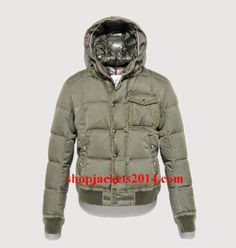 2014 New Moncler Outlet UK Loir Mens Green Down Jacket