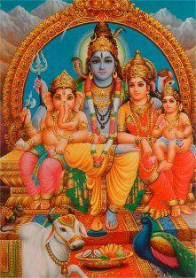 famille Shiva Ganesh Parvati Kartika