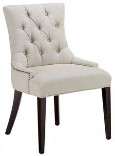 """Stylish Becca Nailhead Dining Chair - on sale for $92 - 36""""h x 22' depth (smaller version of the RH chairs) thoughts?"""