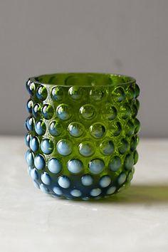 Mouth-Blown Hobnail Vase - anthropologie.com