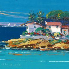 Oeuvre Paysage - Crique à Cap Corse - Liisa Corbière - Huile