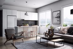 The interior décor of this Scandinavian kitchen is simply delicious