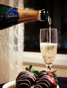 Champagne & Chocolate Covered Strawberries