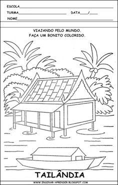 ATIVIDADES SOBRE A CASA | colorindodesenhos