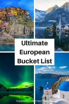 The Ultimate Europe Bucket List: Epic Things to Do in Europe ******** Europe Bucket List Places to Visit In Europe Bucket List Ideas Europe Travel Destinations Beautiful Places Europe Travel Places Bucket Lists Europe Bucket List Challenge Backpacking Europe, Europe Travel Guide, Europe Europe, Europe Budget, Europe Places, Budget Travel, Travel Packing, Solo Travel, Travel Plane