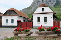 Houses in the village center Architecture Old, Folklore, Hungary, Planer, Pergola, Shed, Exterior, Outdoor Structures, Cabin