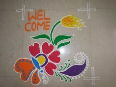 Freehand Rangoli Design(New Year Special) - YouTube