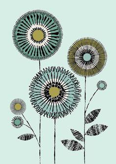 Io amore fiori No1 limited edition giclee stampa di EloiseRenouf