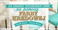 Dzisiaj chciałabym Wam pokazać jak za pomocą farb kredowych odmienić tapicerowane krzesło, którego barwa już nam się znudziła lu... Annie Sloan, Chalk Paint, New Art, Diy Furniture, Couch, Ideas, Hand Painted Furniture, Decorations, Messages