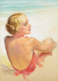 View Bathing Beauty Carole Lombard by Bradshaw Crandell on artnet. Browse more artworks Bradshaw Crandell from The Illustrated Gallery. Pin Up Pictures, Weird Pictures, Carole Lombard, Actrices Hollywood, Bathing Beauties, Cool Paintings, Beauty Art, Old Movies, Illustrators