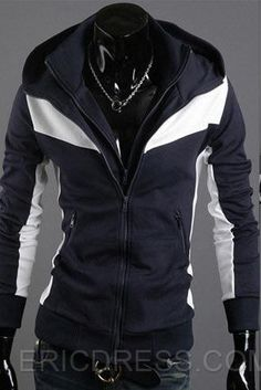 41eaa50b81d Men S Stand Collar Hoodie Two Piece Like Sweater