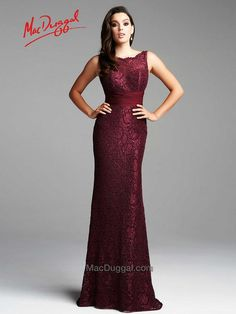 Mac Duggal Style 62426D. This timeless evening gown shows off your figure with a ruched empire waistline.