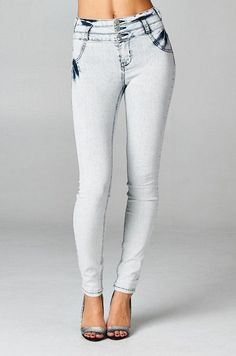 High Waist Skinny Cello Jeans Acid Wash Stretch Light Weight Denim Slim white  #Cello #SlimSkinny Trendy Jeans, High Rise Jeans, Skinny Pants, Trendy Fashion, Cute Outfits, Denim, My Style, How To Wear, Shopping