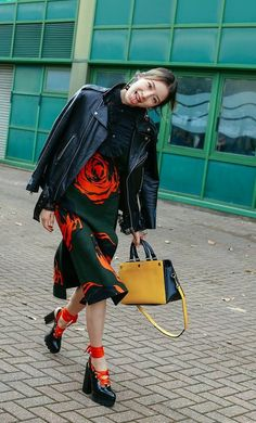 Irene Kim spotted on the street at London Fashion Week. Photographed by Phil Oh.