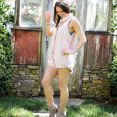 88876af1a520 This pink denim romper is everything we need for spring. Dawn and Rae  Boutique