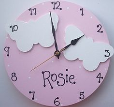 Childrens Clocks Wooden Clock, 3d Projects, Boy Or Girl, Spring Time,  Kidsroom