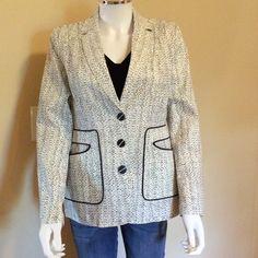 Code blazer 98% cotton 2% spandex. Navy/white. New sample CAbi Jackets & Coats Blazers