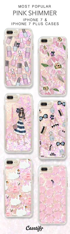 Most Popular Pink Shimmer iPhone 7 Cases here > https://www.casetify.com/collections/iphone-7-glitter-cases#/