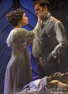 """Christine and Raoul in """"Love Never Dies"""" (in London, I presume)"""
