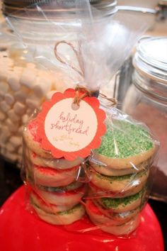 Christmas Shortbread Cookies....If you are not in the mood for cut-out cookies, (and seriously, don't you have to be in the mood to even consider those?) I have a great standby for easy, kids-in-the-kitchen, delicious melt-in-your-mouth Christmas cookies.