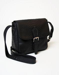 Motel Saddle Satchel in Black Python http://www.motelrocks.com/shop/products/Motel-Saddle-Satchel-in-Black-Python.html #satchel #saddle #bag #black #python #snakeskin #shiny #moleskin #accessories #motelrocks #vintage
