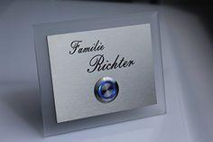 Edelstahl Türklingel Klingel Klingelplatte Richter-s mit LED Taster (z.B. weiß / blau...), Acrylplatte und Gravur CHRISCK design http://www.amazon.de/dp/B00YS9RRVE/ref=cm_sw_r_pi_dp_2a-Fvb14JCWSK