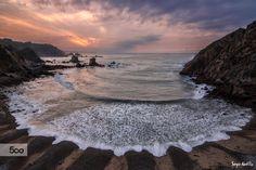 Sunset over Silencio beach , Asturias (SPAIN) ©SergioAbeVilla