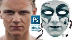Tutorial Photoshop crear y pintar una máscara de carnaval con rostro by ...