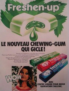 Page about Freshen Up Gum from a list of people's favorite food 1980s Childhood, Childhood Days, School Memories, Great Memories, Chewing Gum, Nostalgic Candy, Vintage Candy, Retro Ads, 80s Kids