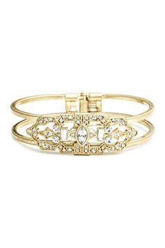 Art Deco Inspired Hinge Bracelet