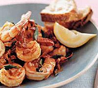 Pan-Seared Shrimp with Hot Chorizo Butter    Meal: Appetizer  Cuisine: Mexican  Ingredient: Seafood  Season: Spring  Contributor: Food & Wine Magazine