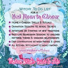 ★ Witchy things to do during a New Moon in Cancer ★  #NewMooninCancer…