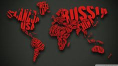 World Map and Flags Wallpaper Wide or HD Digital Art Wallpapers