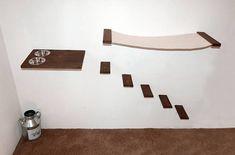 Cat Furniture Set Hammock Feeder and 5 Steps Cat Shelves