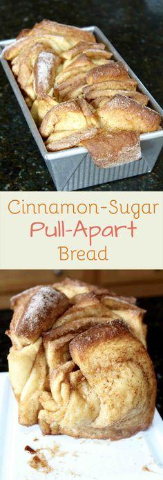 Chewy, sweet, and sugary Cinnamon-Sugar Pull-Apart Bread!
