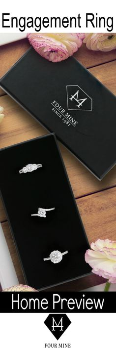 3 Rings, 3 Days, Free Home Preview. Find a diamond engagement ring you love. Use our Home Try-On to try your favorite styles before you make a purchase. Shop from home and let the rings come to you. www.fourmine.com