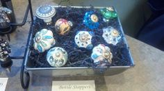 $12.00 - Beautiful bottle stoppers! Glass or ceramic available.