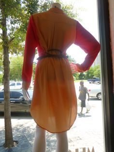 back of coral shirt dress!
