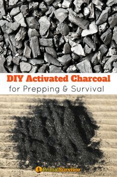 How to Make DIY Activated Charcoal for Prepping and Survival. From filtering water to making your own gas mask or treating a poisoning, activated charcoal has a lot of valuable uses in a survival situation. Making your own takes time but it is ultimately Survival Life, Homestead Survival, Survival Food, Wilderness Survival, Camping Survival, Outdoor Survival, Survival Prepping, Survival Skills, Survival Hacks